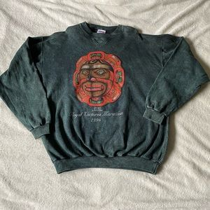 90s Green Acid Washed Oversized Sweatshirt